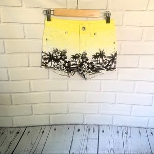 JUSTICE. Graphic print shorts. Size 10